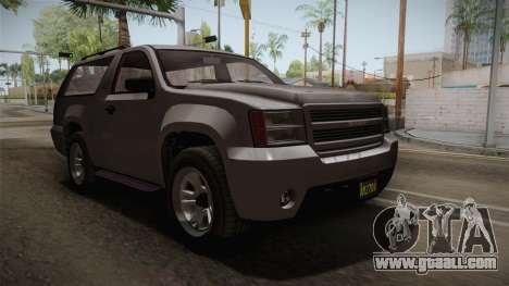 GTA 5 Declasse Granger 2-doors for GTA San Andreas right view