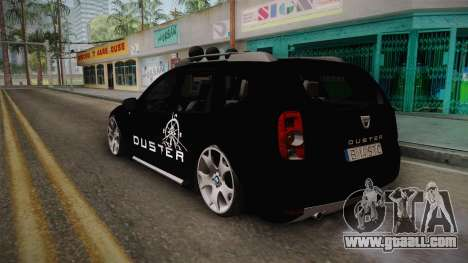 Dacia Duster Aventure Stance for GTA San Andreas back left view