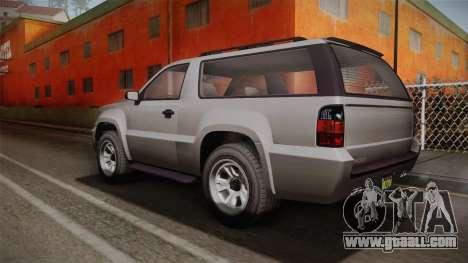 GTA 5 Declasse Granger 2-doors for GTA San Andreas left view