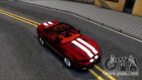 Ford Mustang Shelby GT500 2013 v1.0 for GTA San Andreas right view