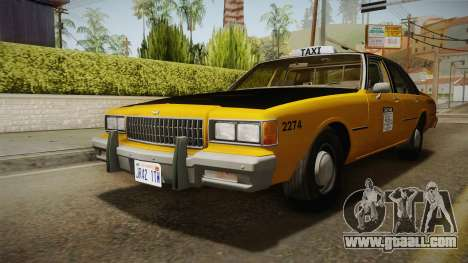 Chevrolet Caprice Taxi 1986 IVF for GTA San Andreas