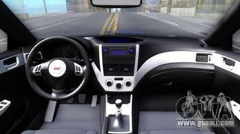 Subaru Impreza WRX STI Sedan 2011 for GTA San Andreas inner view