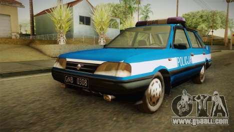 FSO Polonez Atu Policja for GTA San Andreas back left view