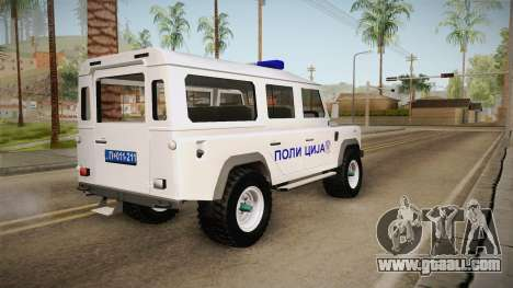 Land Rover Defender 110 Police for GTA San Andreas left view