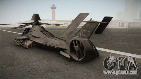 RAH-66 Comanche with Pods for GTA San Andreas back left view