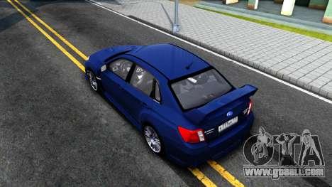 Subaru Impreza WRX STI Sedan 2011 for GTA San Andreas back view