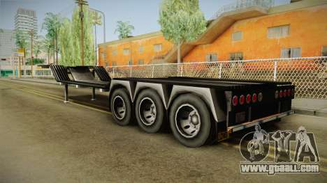 American Multiple Carrier Trailer for GTA San Andreas left view