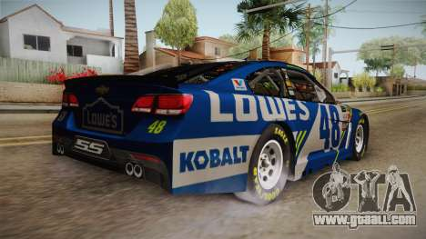 Chevrolet SS Nascar 48 Lowes 2017 for GTA San Andreas left view