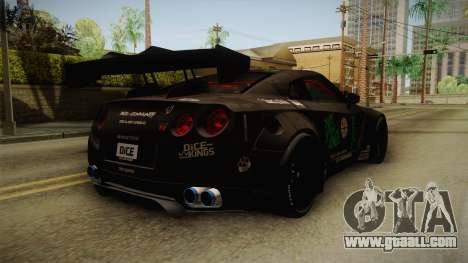 Nissan GT-R LB Walk Team Dice for GTA San Andreas