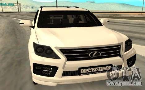 Lexus LX570 AG Armored for GTA San Andreas