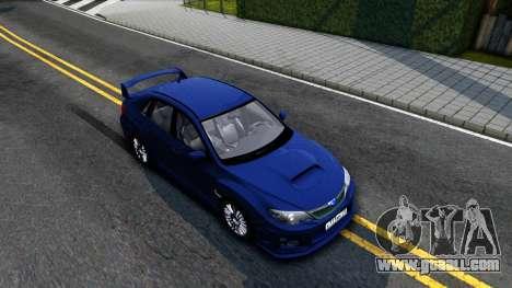 Subaru Impreza WRX STI Sedan 2011 for GTA San Andreas right view
