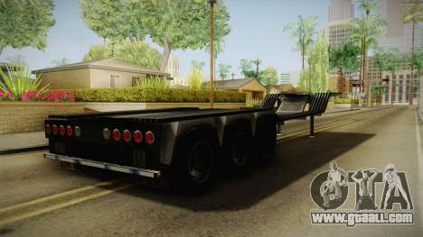 American Multiple Carrier Trailer for GTA San Andreas back left view
