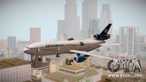 McDonnell-Douglas DC-10 Aeromexico for GTA San Andreas back left view