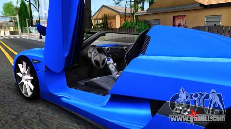 Koenigsegg CCX for GTA San Andreas inner view