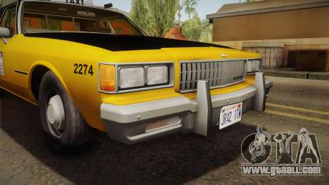 Chevrolet Caprice Taxi 1986 IVF for GTA San Andreas inner view