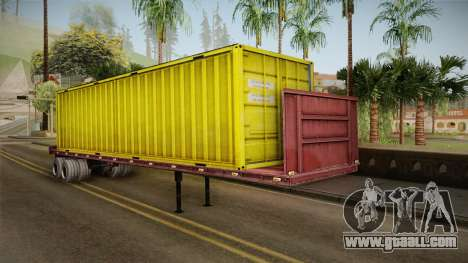 Yellow Trailer Container HD for GTA San Andreas