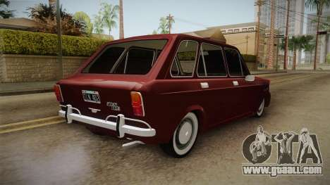 Fiat 128 Rural for GTA San Andreas back left view
