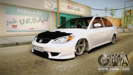 Honda Civic İ-Vtec for GTA San Andreas right view