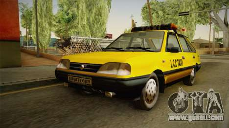 FSO Polonez Caro L.C.C TAXI for GTA San Andreas back left view