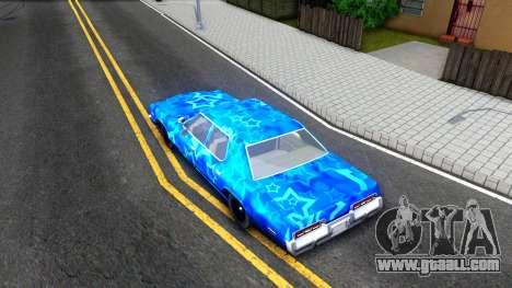 Dodge Monaco 1974 Blue Star for GTA San Andreas back view