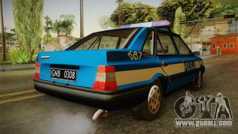 FSO Polonez Atu Policja for GTA San Andreas right view