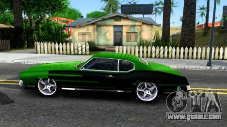 Sabre Drift Green Strips for GTA San Andreas left view