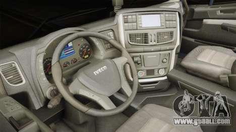 Iveco Stralis Hi-Way 560 E6 6x4 v3.2 for GTA San Andreas inner view