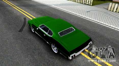 Sabre Drift Green Strips for GTA San Andreas back view