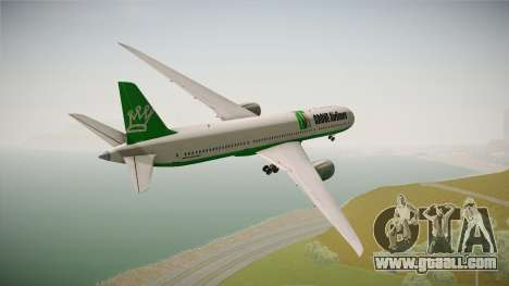 Boeing 787 Grove Airlines for GTA San Andreas right view