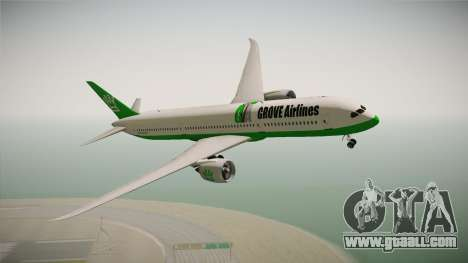 Boeing 787 Grove Airlines for GTA San Andreas back left view