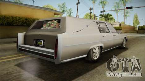 GTA 5 Albany Emperor Hearse for GTA San Andreas left view