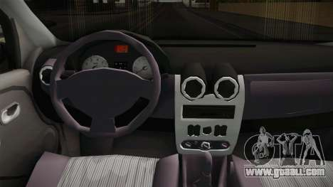 Dacia Logan for GTA San Andreas inner view