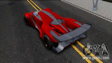 GTA V Grotti Prototipo for GTA San Andreas back view