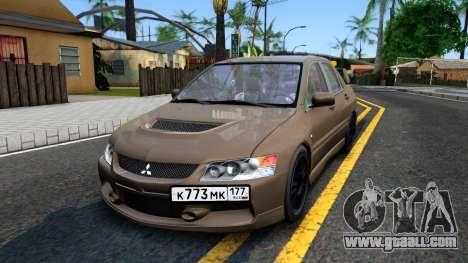Mitsubishi Lancer Evolution IX 2006 MR for GTA San Andreas