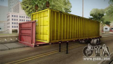 Yellow Trailer Container HD for GTA San Andreas right view
