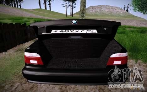 BMW M5 E39 GVR for GTA San Andreas