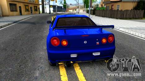 Nissan Skyline R34 for GTA San Andreas back left view
