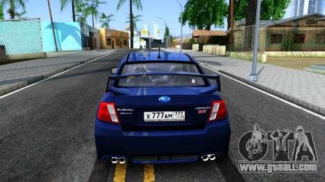 Subaru Impreza WRX STI Sedan 2011 for GTA San Andreas back left view