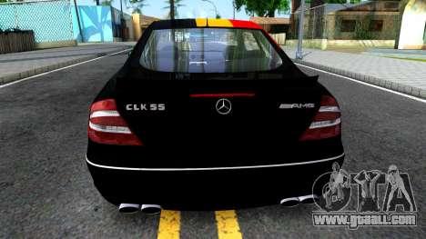 Mercedes-Benz CLK55 AMG 2003 for GTA San Andreas back left view