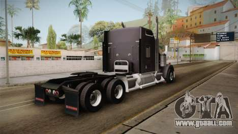 Kenworth W900 ATS 6x4 Cab Normal for GTA San Andreas left view