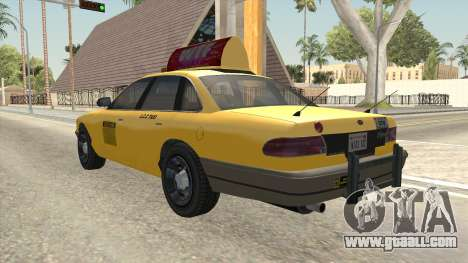 GTA 4 Taxi Car SA Style for GTA San Andreas back left view