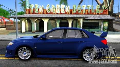 Subaru Impreza WRX STI Sedan 2011 for GTA San Andreas left view