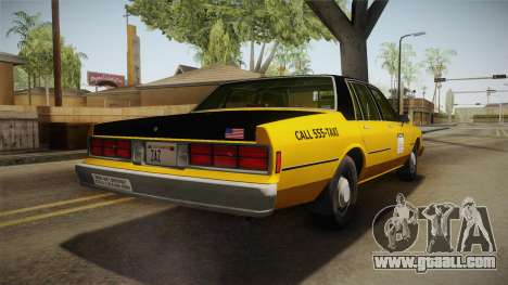 Chevrolet Caprice Taxi 1986 IVF for GTA San Andreas back left view