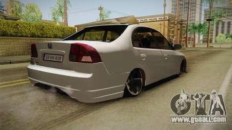 Honda Civic İ-Vtec for GTA San Andreas left view
