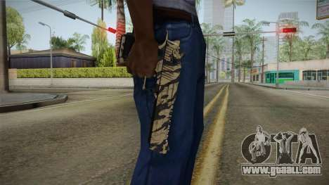 Desert Eagle Black Shark Camo for GTA San Andreas third screenshot