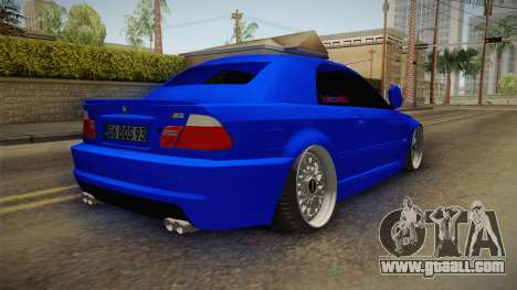 BMW 3 Series E46 Cabrio King for GTA San Andreas back left view