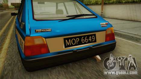 FSO Polonez Caro Policja for GTA San Andreas back view