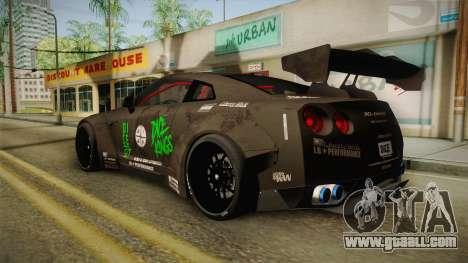 Nissan GT-R LB Walk Team Dice for GTA San Andreas