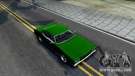 Sabre Drift Green Strips for GTA San Andreas right view