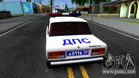 VAZ 2107 DPS for GTA San Andreas back left view